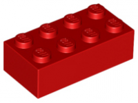 LEGO Brick 2 x 4, red