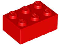LEGO Brick 2 x 3, red