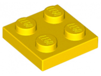 LEGO Plate 2 x 2, yellow