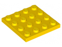 LEGO Plate 4 x 4, yellow