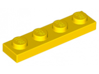 LEGO Plate 1 x 4, yellow