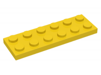 LEGO Plate 2 x 6, yellow