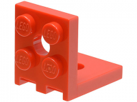 LEGO Bracket 2 x 2 up, red