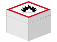 LEGO BHV Sign [warning flammable]