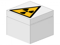 LEGO BHV Sign [warning Radioactive materials]