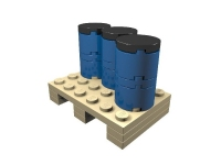 LEGO ERO Cargo Load: Pallet with 200 Liter Drums