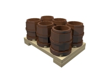 LEGO ERO Cargo: Pallet with barrels