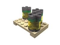 LEGO ERO Cargo Load: Pallet with Drums including Liquids