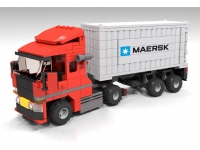 LEGO BHV Transport: Truck with trailer and sea container
