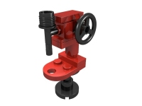 LEGO BHV Mechanical Engineering: Drill Press - red