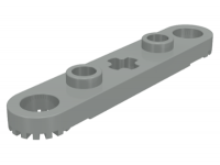 LEGO Technic Plaat 1 x 5 with Toothed Ends, lichtgrijs