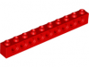 LEGO Technic Brick 1 x 10, red
