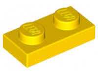 LEGO Plate 1 x 2, yellow