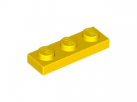 LEGO Plate 1 x 3, yellow