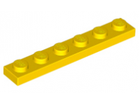 LEGO Plate 1 x 6, yellow