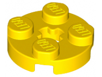 LEGO Plate 2 x 2 round, yellow