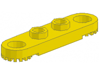 LEGO Technic Plate 1 x 5 with Toothed Ends, yellow