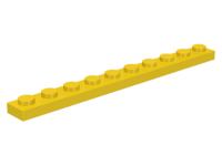 LEGO Plate 1 x 10, yellow
