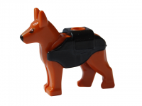LEGO City Dog / Wolf 'the Grim' (Reddish Brown) - German Sheppar