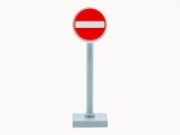 LEGO Roadsign - Do not drive in / one-way traffic
